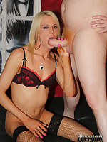Zoe and Karla Cox have group sex with two older men